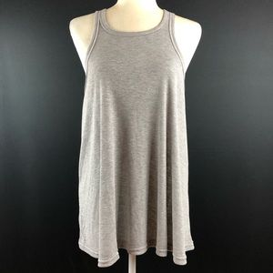 Free People Intimately Gray Swing Tunic Tank